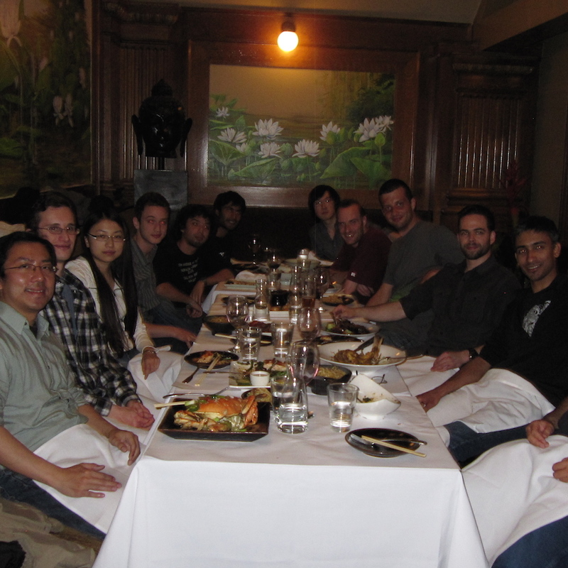 Dinner in Palo Alto, June 2011