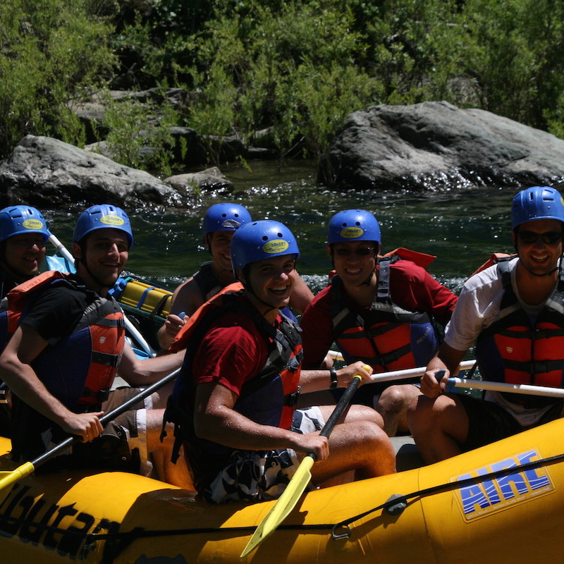 Whitewater rafting on the American River, June 2012