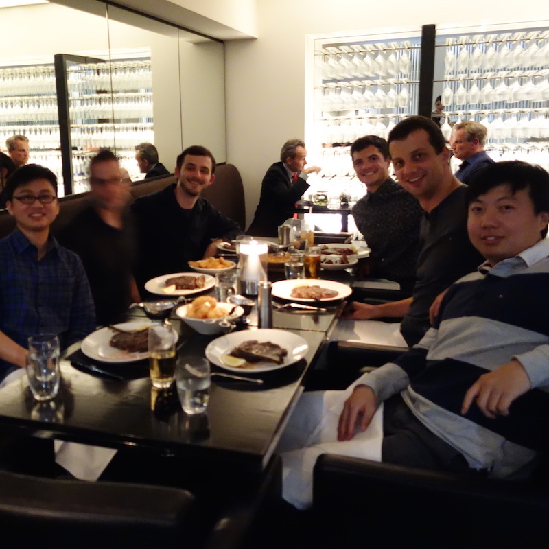 Dinner in Sydney, December 2013