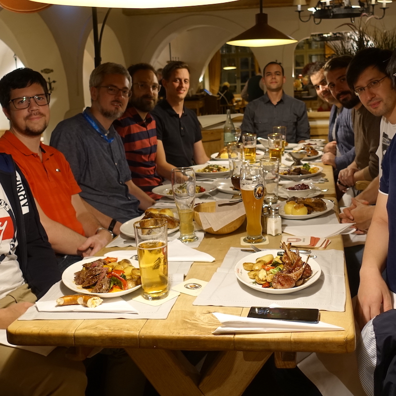 Dinner in Munich, September 2019