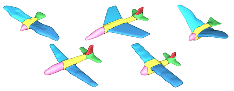 Joint Shape Segmentation with Linear Programming