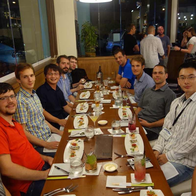 Lab dinner at the CVPR conference in Hawaii, July 2017