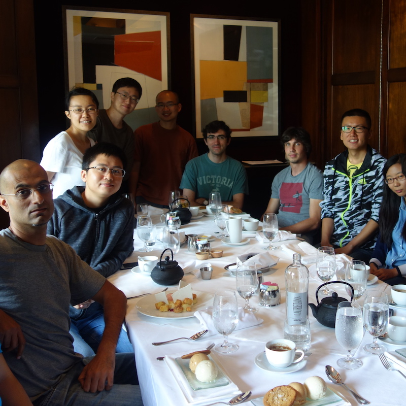 Lab outing in Woodside, August 2017