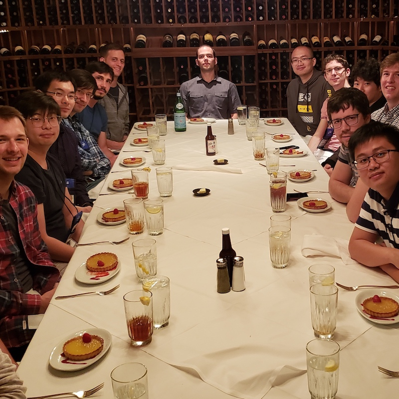 Lab lunch at the CVPR conference in Long Beach, June 2019